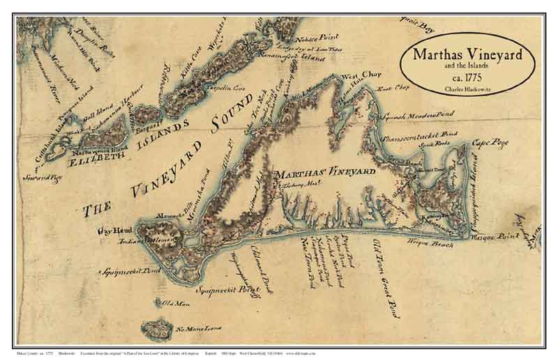 Martha's Vineyard Island Maps