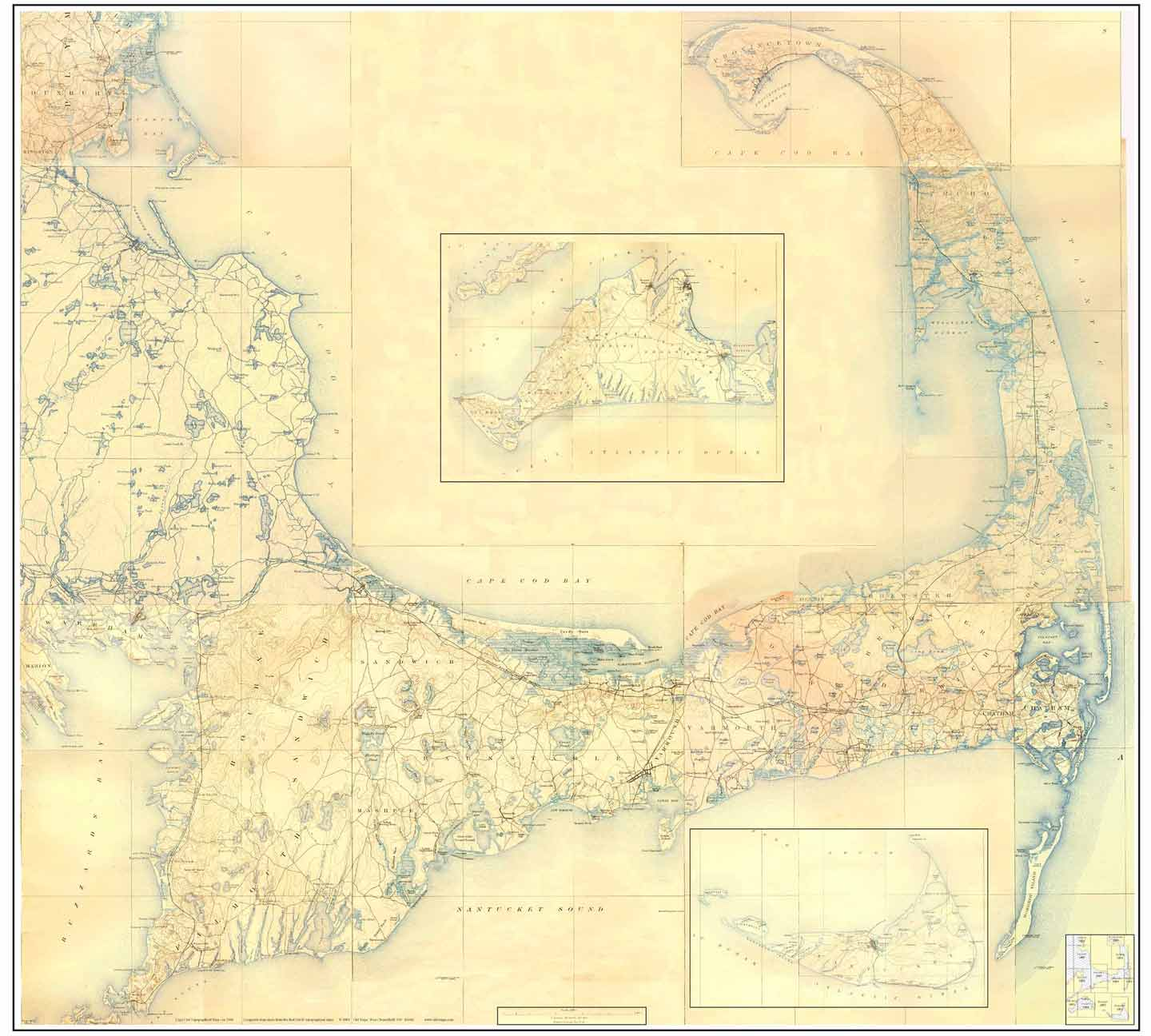 Cape Town Topographic Map