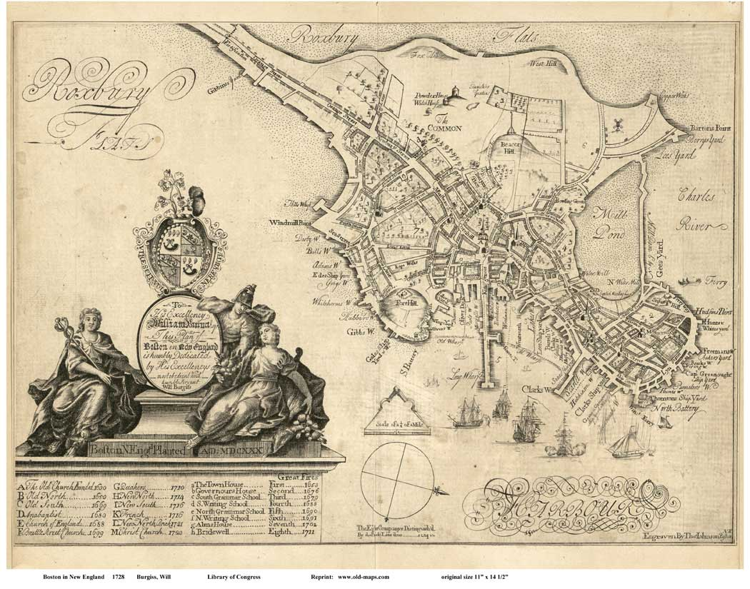 Old Maps Of Boston - Map of boston vicinity