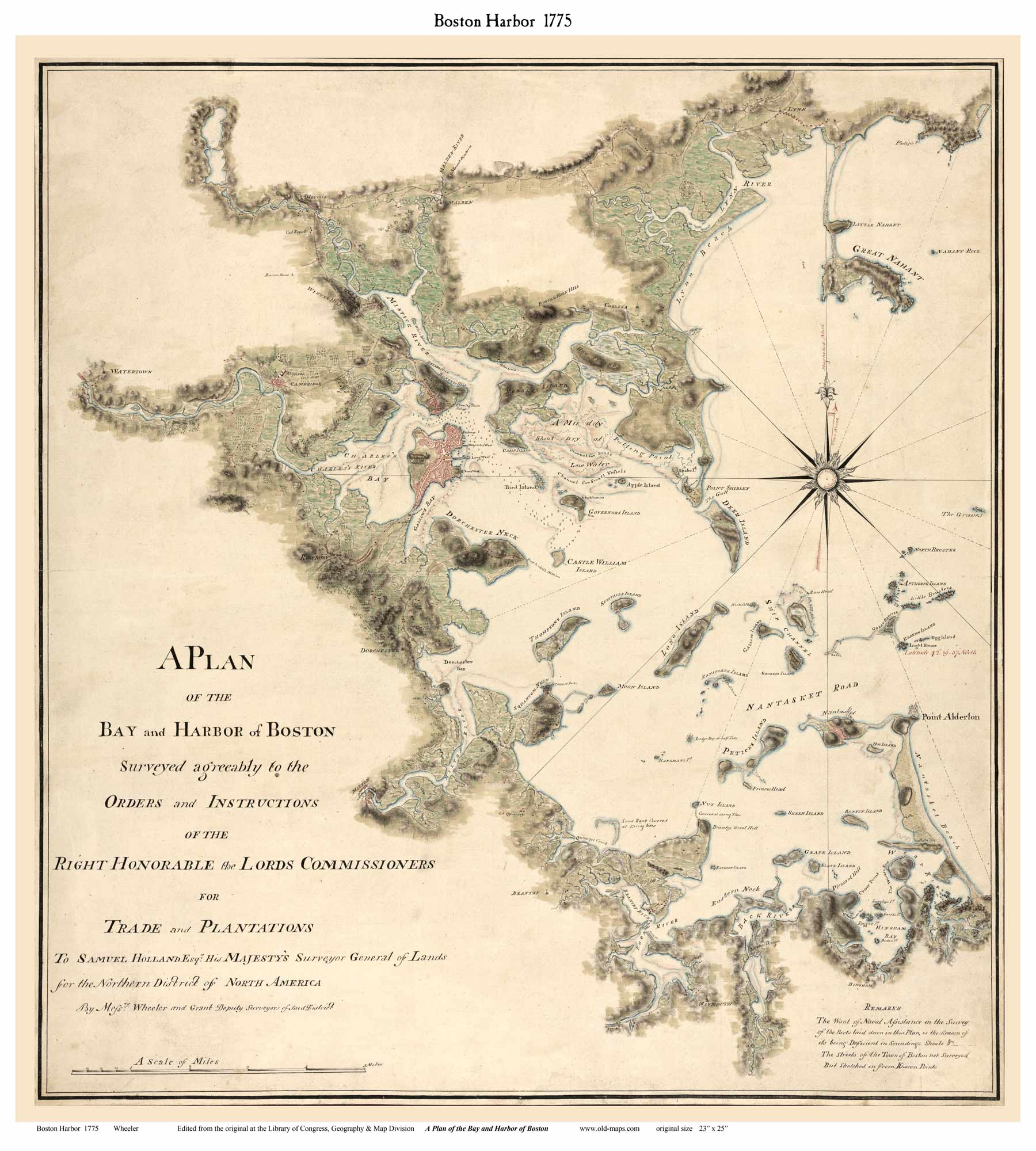 map of colonial boston Old Maps Of Boston map of colonial boston