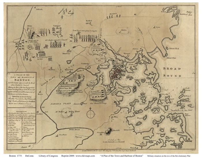 1775 map of boston Old Maps Of Boston 1775 map of boston
