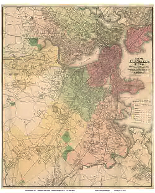 Green Start Web Page Site Map: Old Maps Of Boston