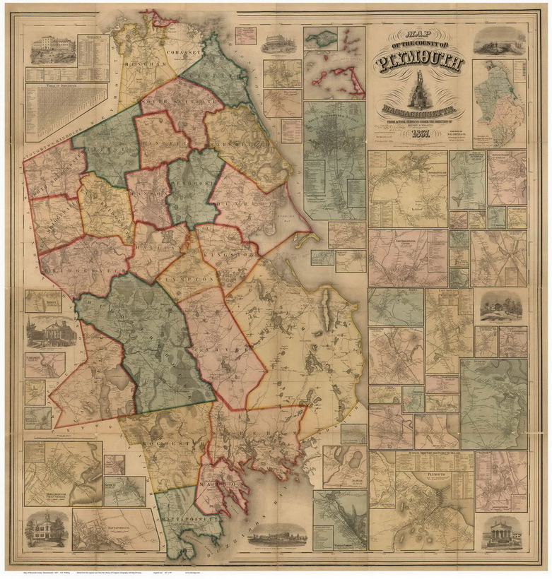 Old Maps of Plymouth County MA