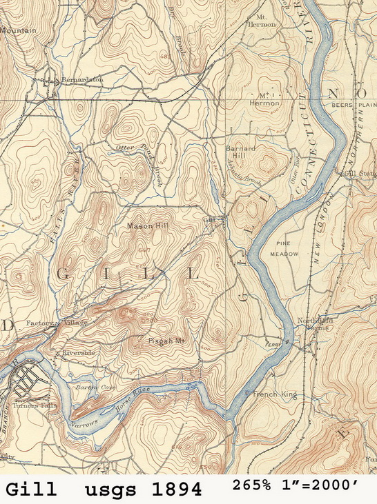 Old Topographic Maps Ca 1895 Franklin County