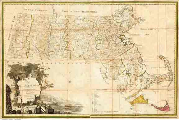 Old Maps Of Massachusetts - Map of massachussets