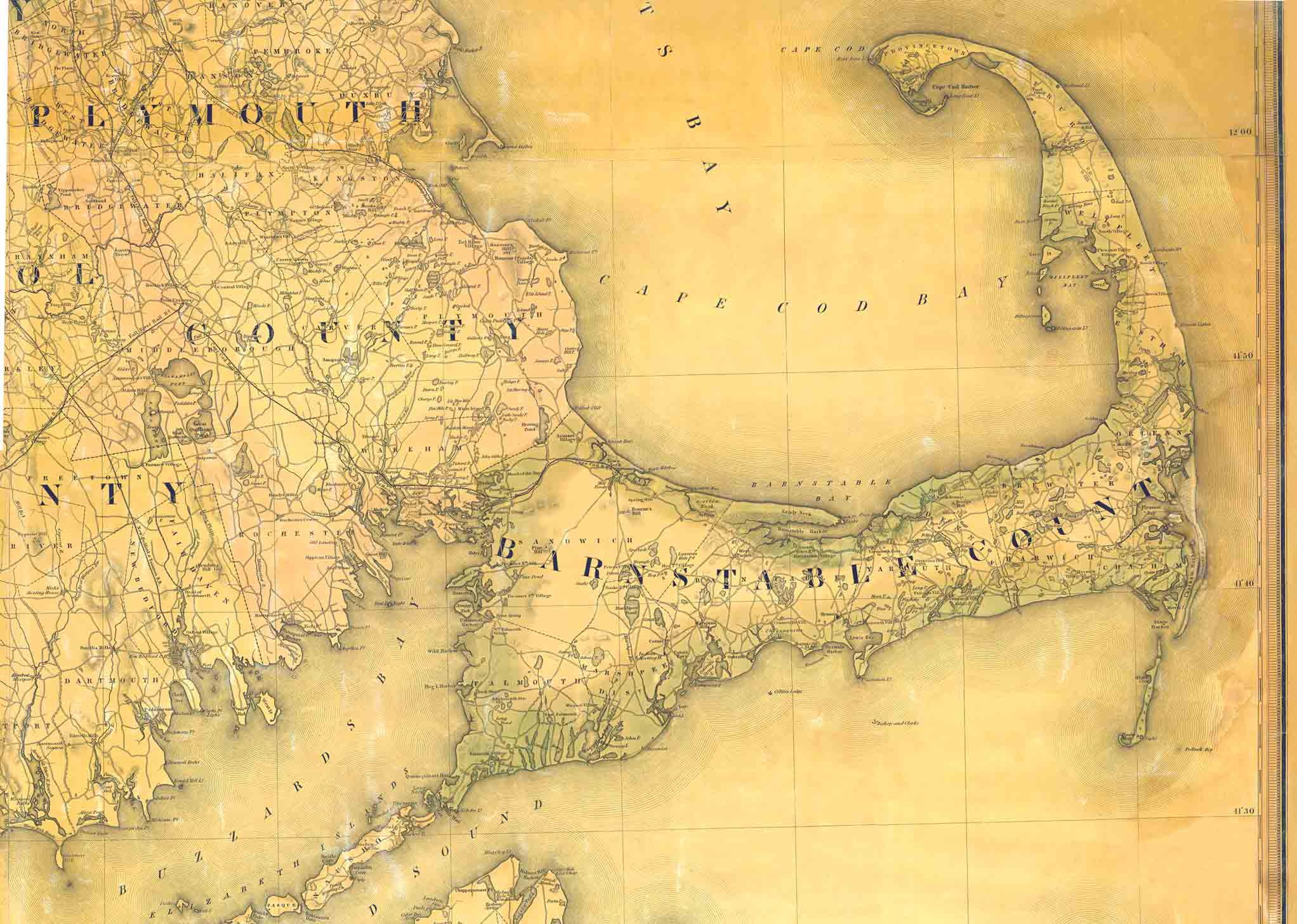 Old Maps of the Cape Cod Area