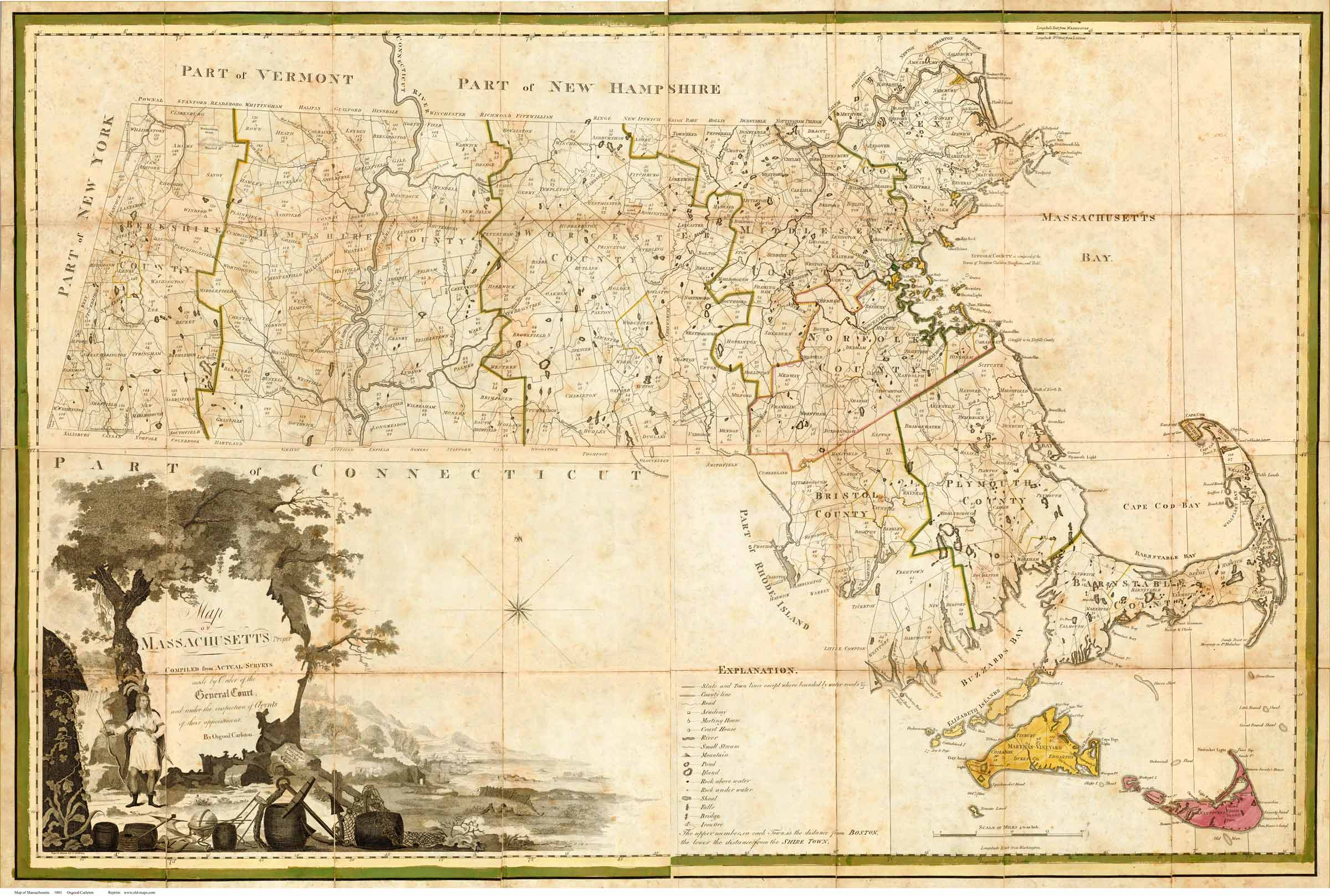 Carleton Map Massachusetts State Maps - Maps massachusetts