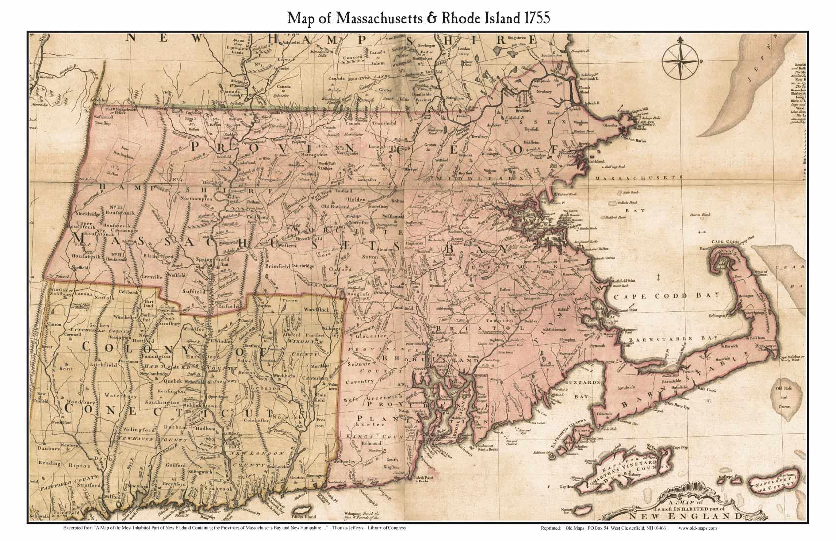 Prints Of Old Massachusetts State Maps - Map of massachusetts towns