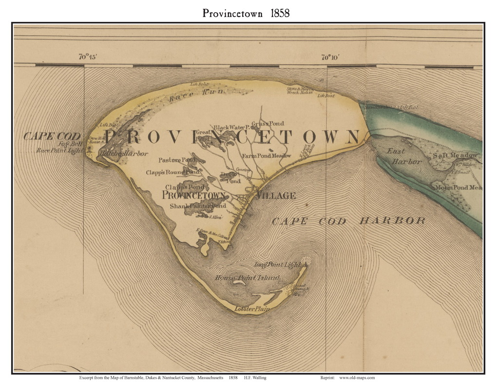 Old Maps of Provincetown Massachusetts