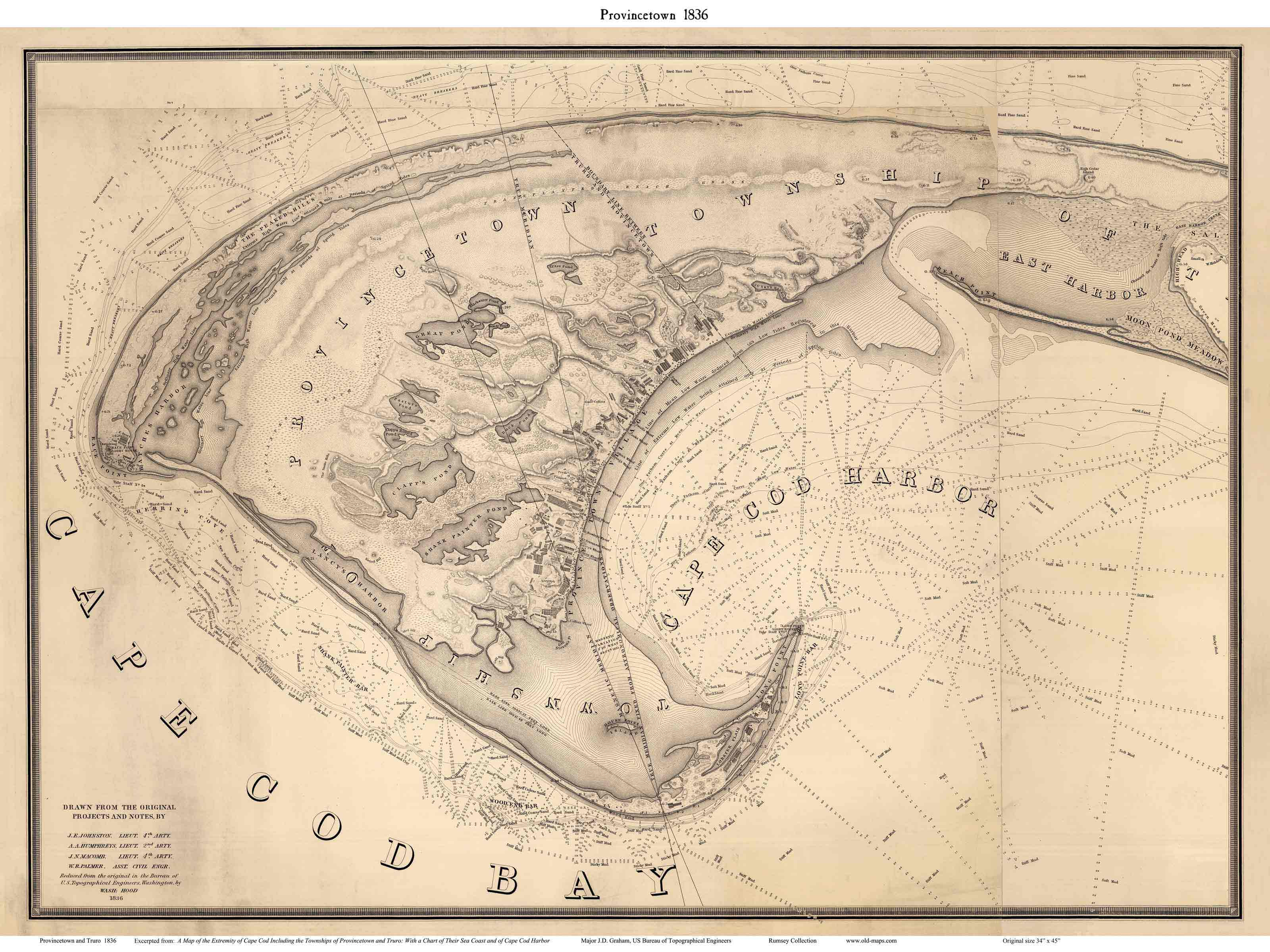 Map Of Provincetown Massachusetts - 1836 us map