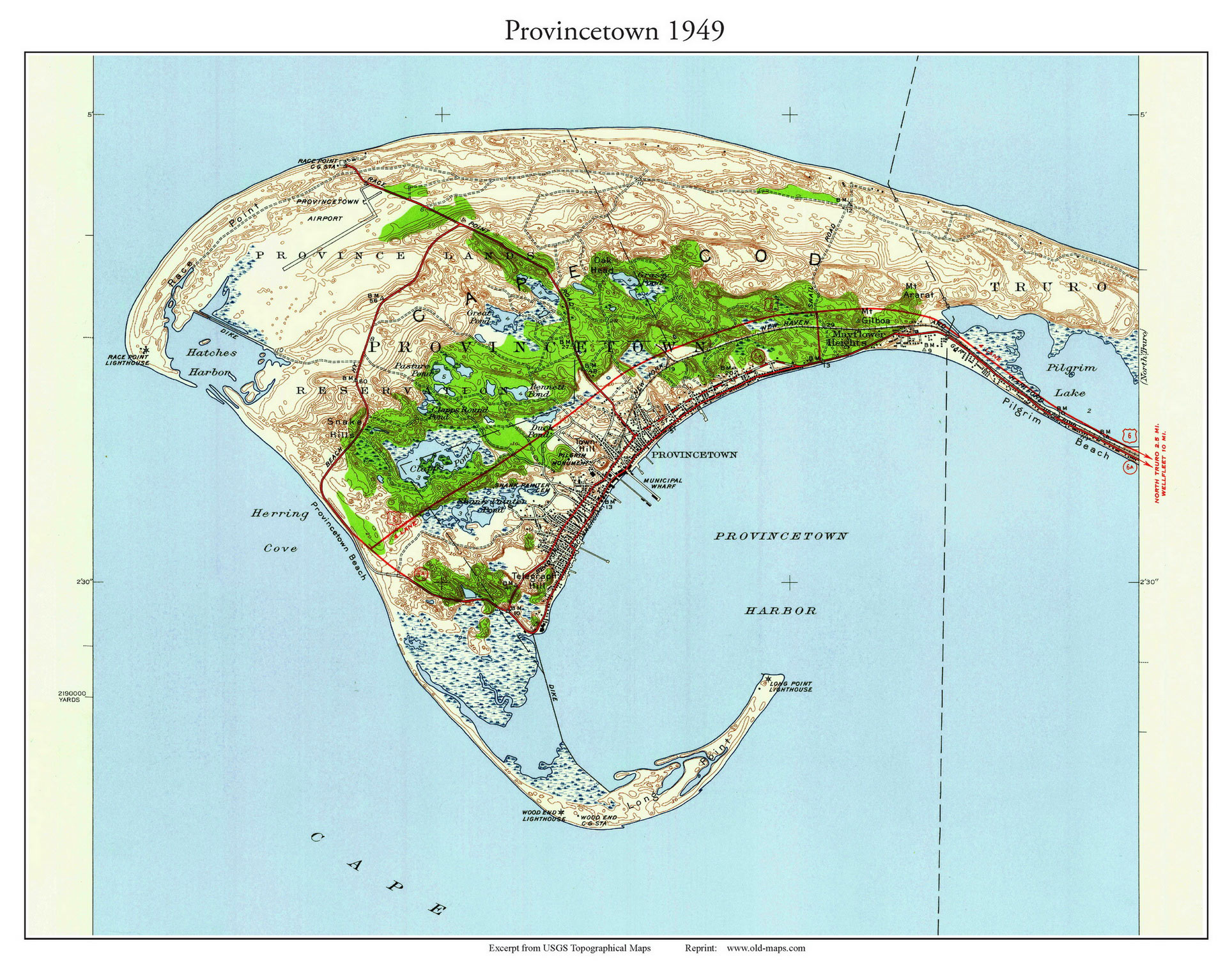 . old maps of provincetown massachusetts