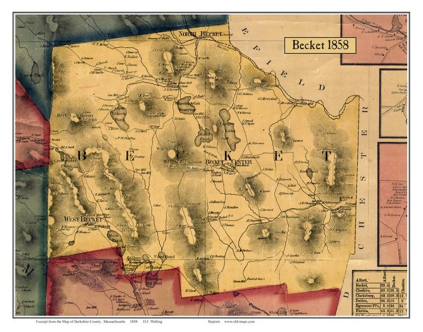 Old Maps Of Berkshire County - Old map shop