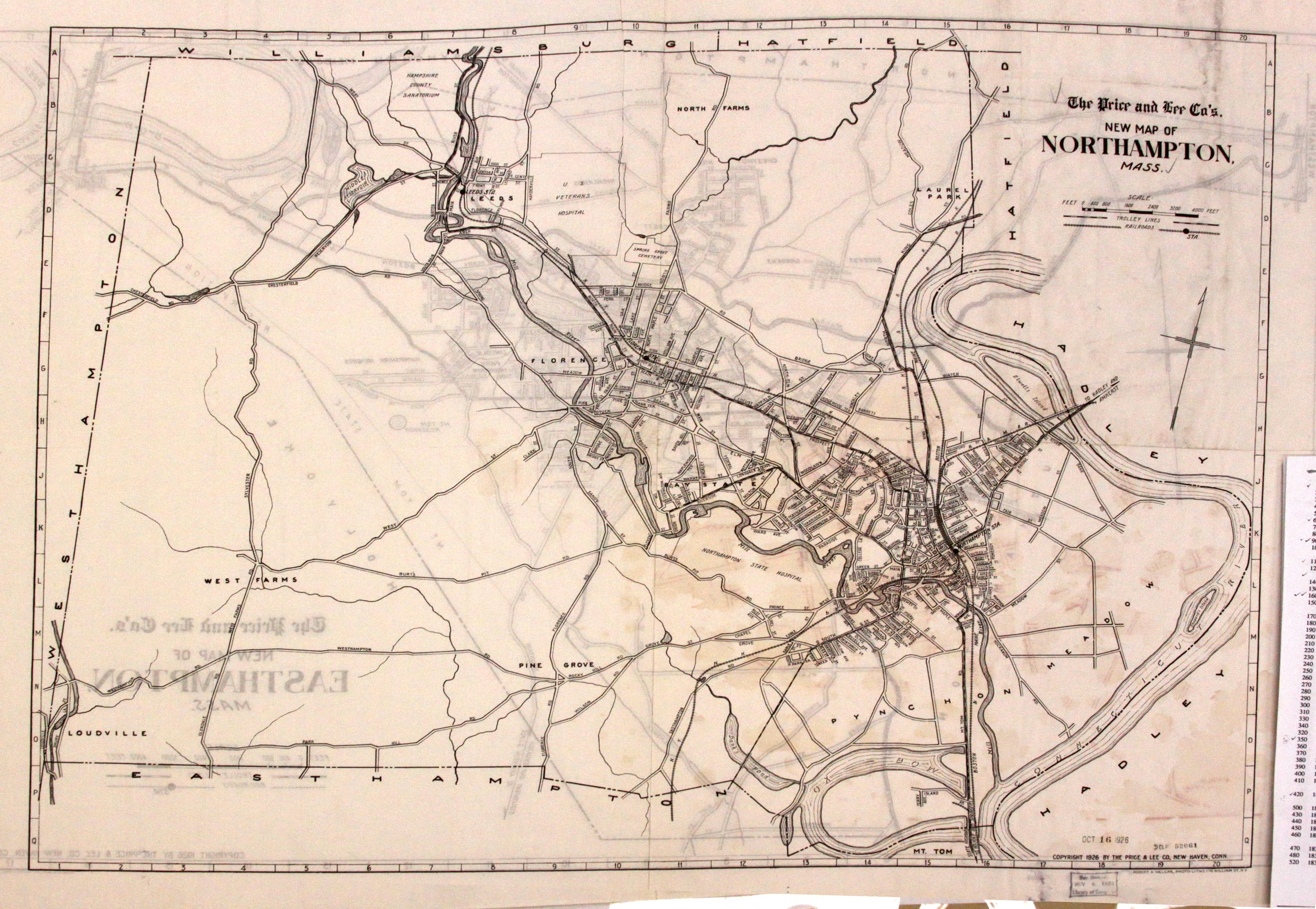 Old Northampton Massachusetts Maps from Library of Comgress