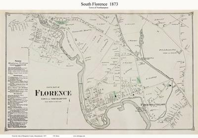 Hampshire County MA Old Maps