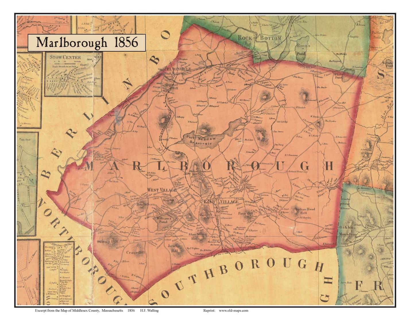 Old maps of middlesex county ma for Classic house of pizza marlborough ma