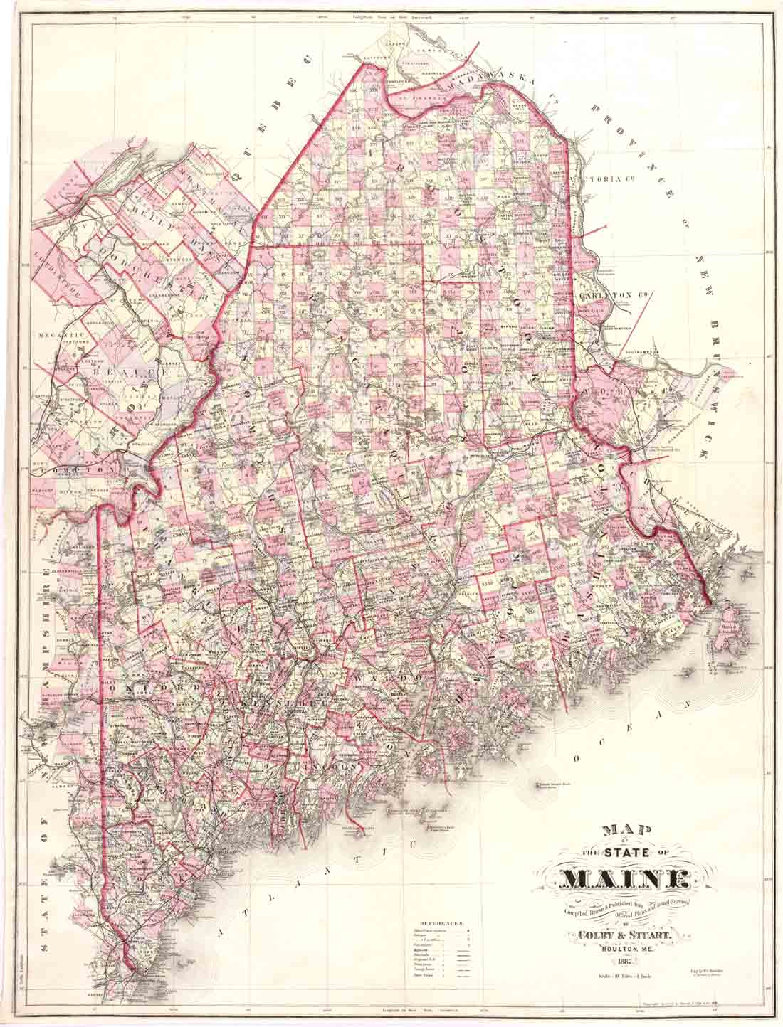 Colby s atlas of the state of maine 1887 cdrom
