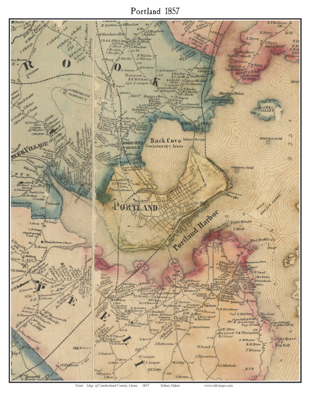 Old maps of Portland Maine