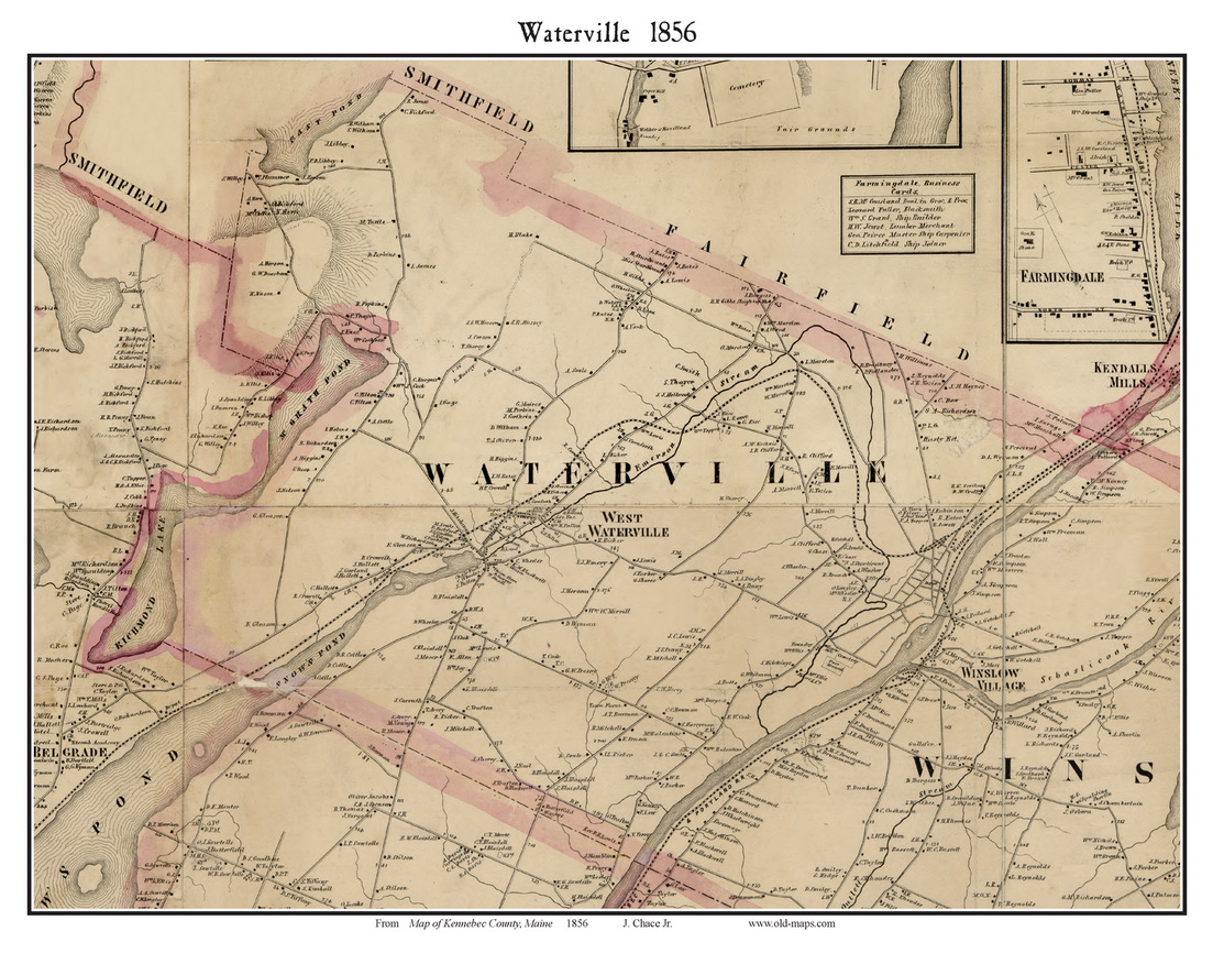 Directory MaineKennebecCo_1856Kenne56_Towns