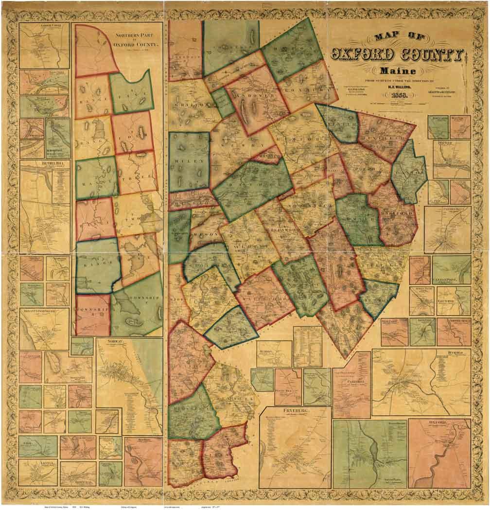 Ford Stoneham Cumberland County Maine Maps