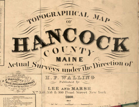 Map Of Hancock County Me 1860