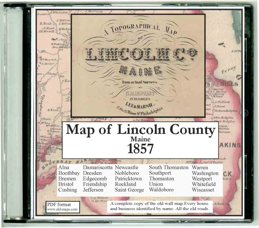 Jefferson Maine Map.Lincoln County Maine 1857 Maps