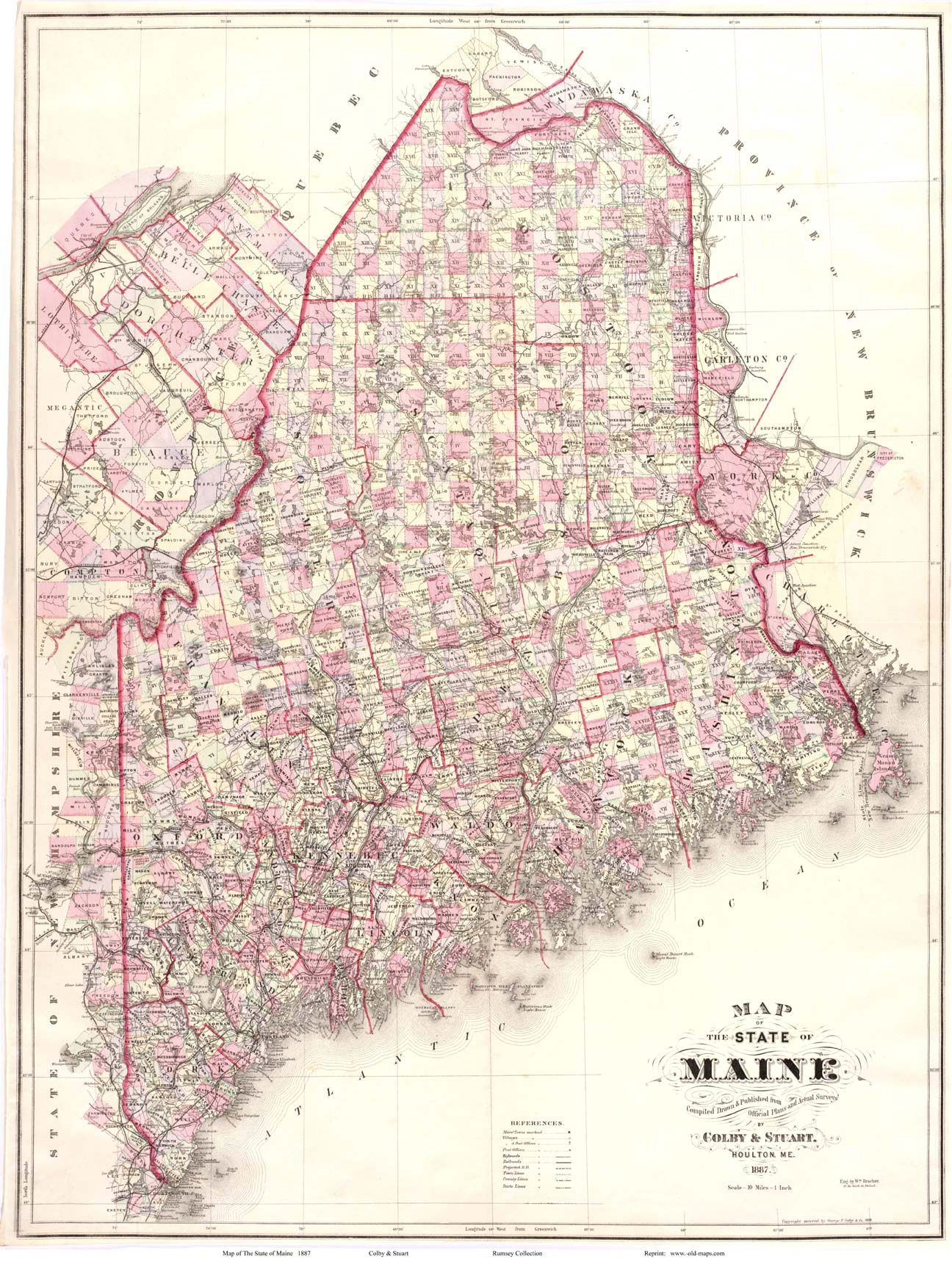 State Map Of Maine.Old Maps Maine Large State Maps