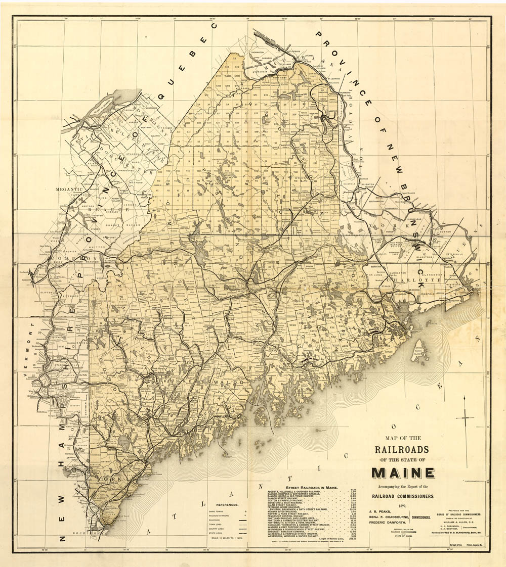 Old Maps Maine Large State Maps - Main state map