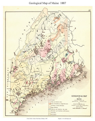 Old Maps Of Maine  Small State Maps