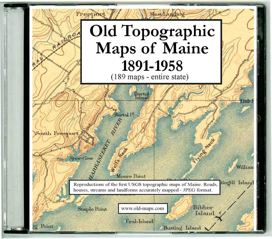Topo Map Of Maine.All Old Maine Usgs Topos