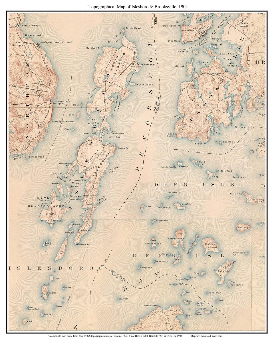 Maine USGS Topo Maps