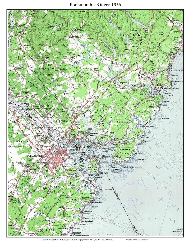 Maine 1950s Usgs Topo Maps