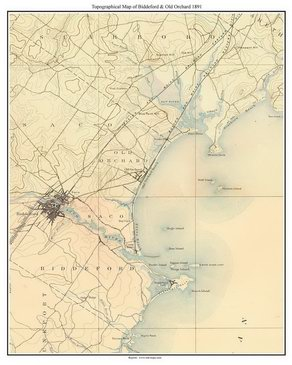 Maine USGS Topo Maps - Topographical map of maine