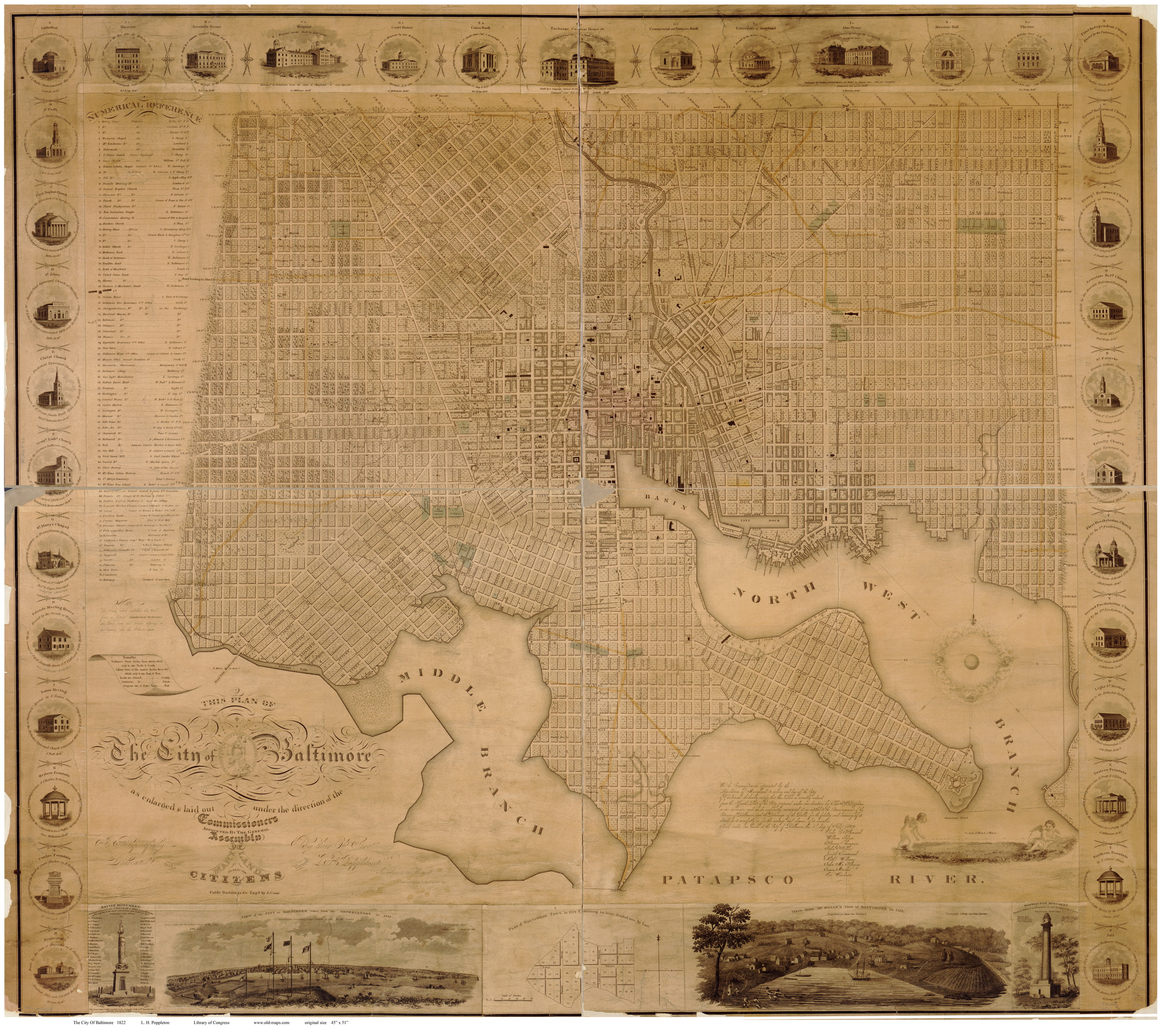 Old Maps Of Baltimore - Old map shop