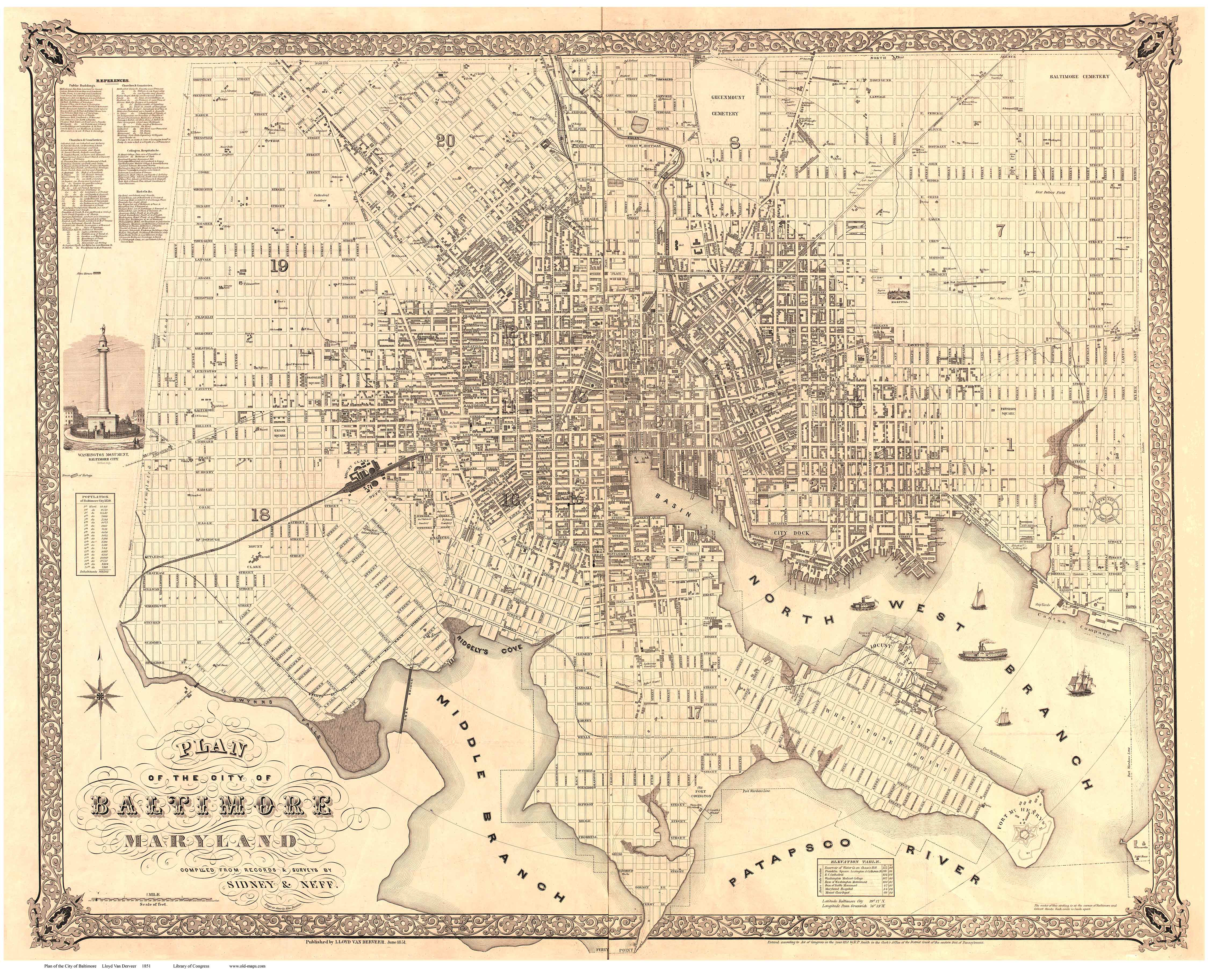Old Maps of Baltimore
