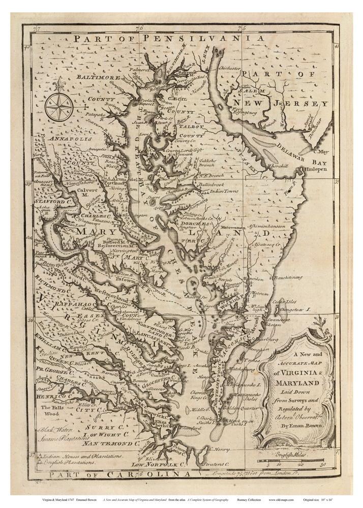 Maryland Chesapeake Watershed Map on