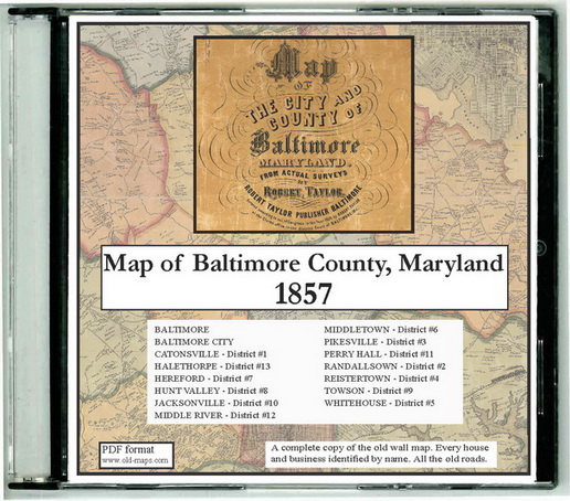 Old Maps Of Baltimore Co Md 1857