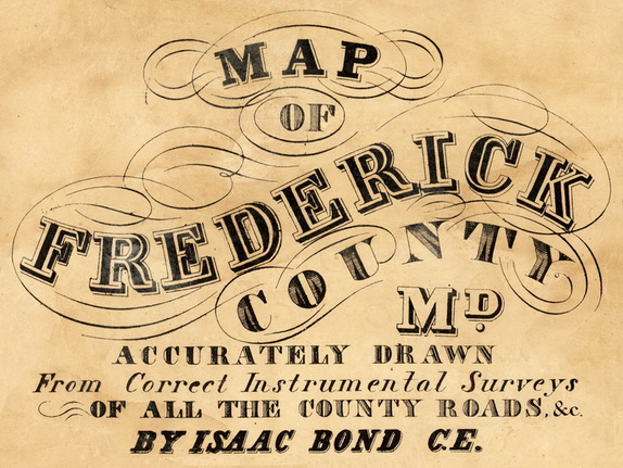 1858 Frederick Co MD Wall Map