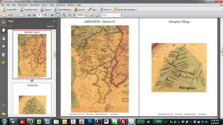 Harford County Maryland 1878 - CDROM details