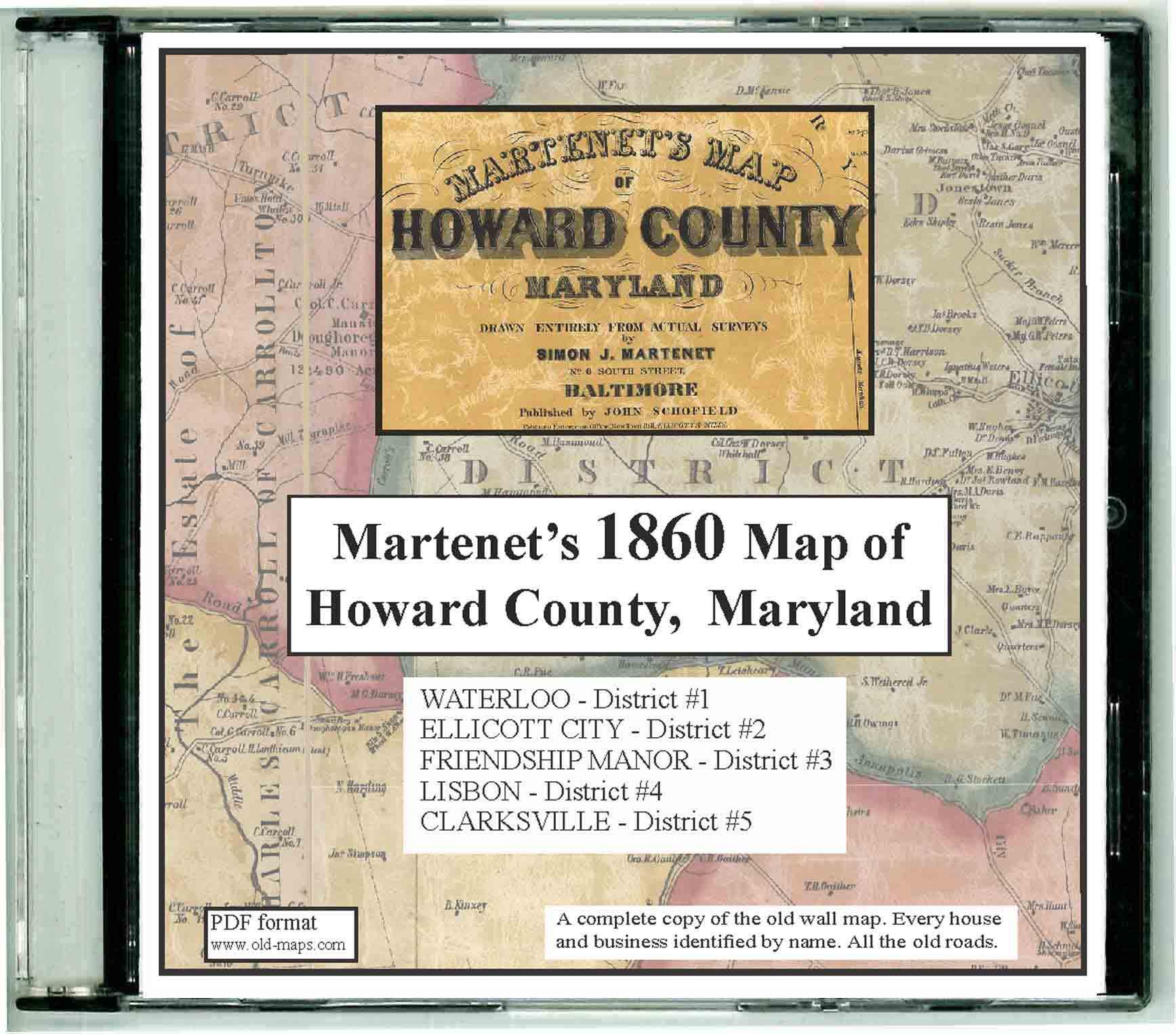 Howard County Maryland 1860