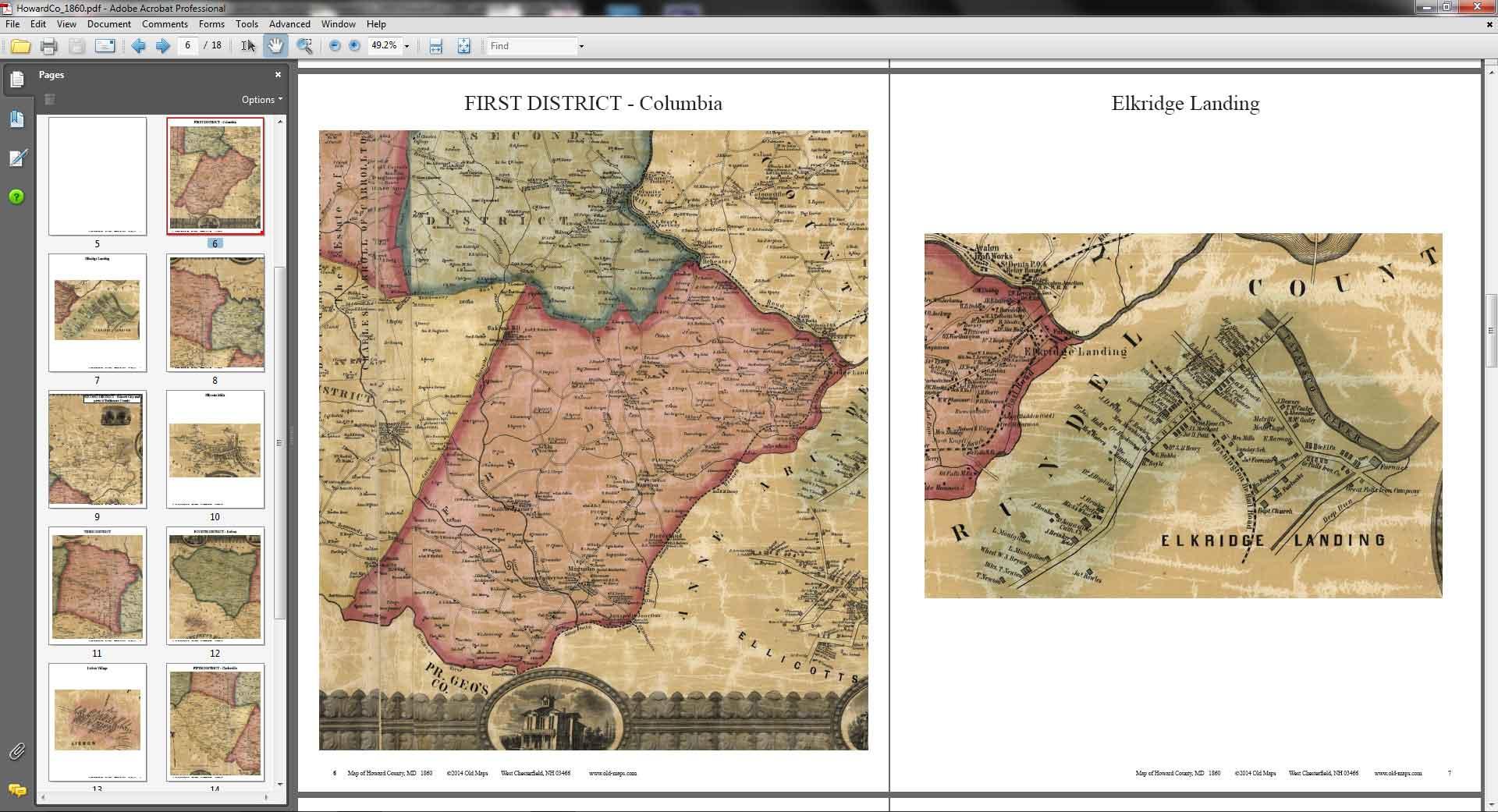 Howard County Maryland 1860 - CDROM details
