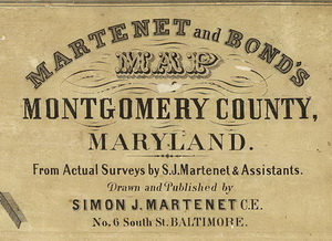 1865 Montgomery Co Md Wall Map