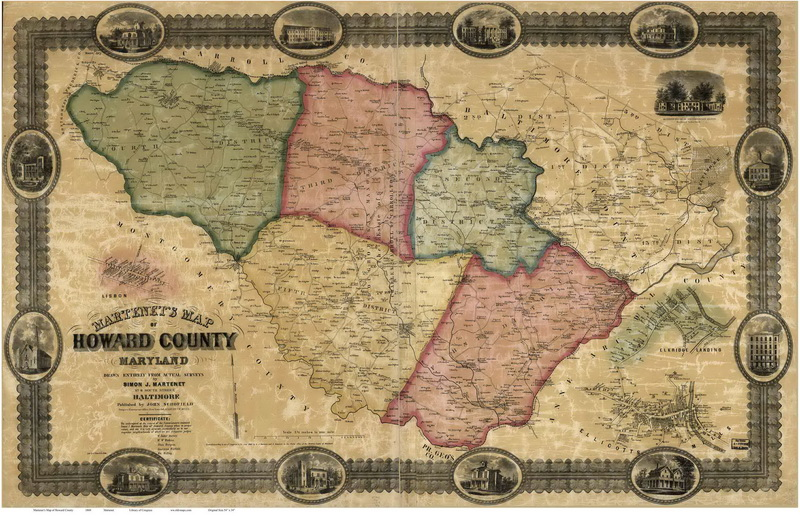 27 Map Of Howard County Md Maps Database Source