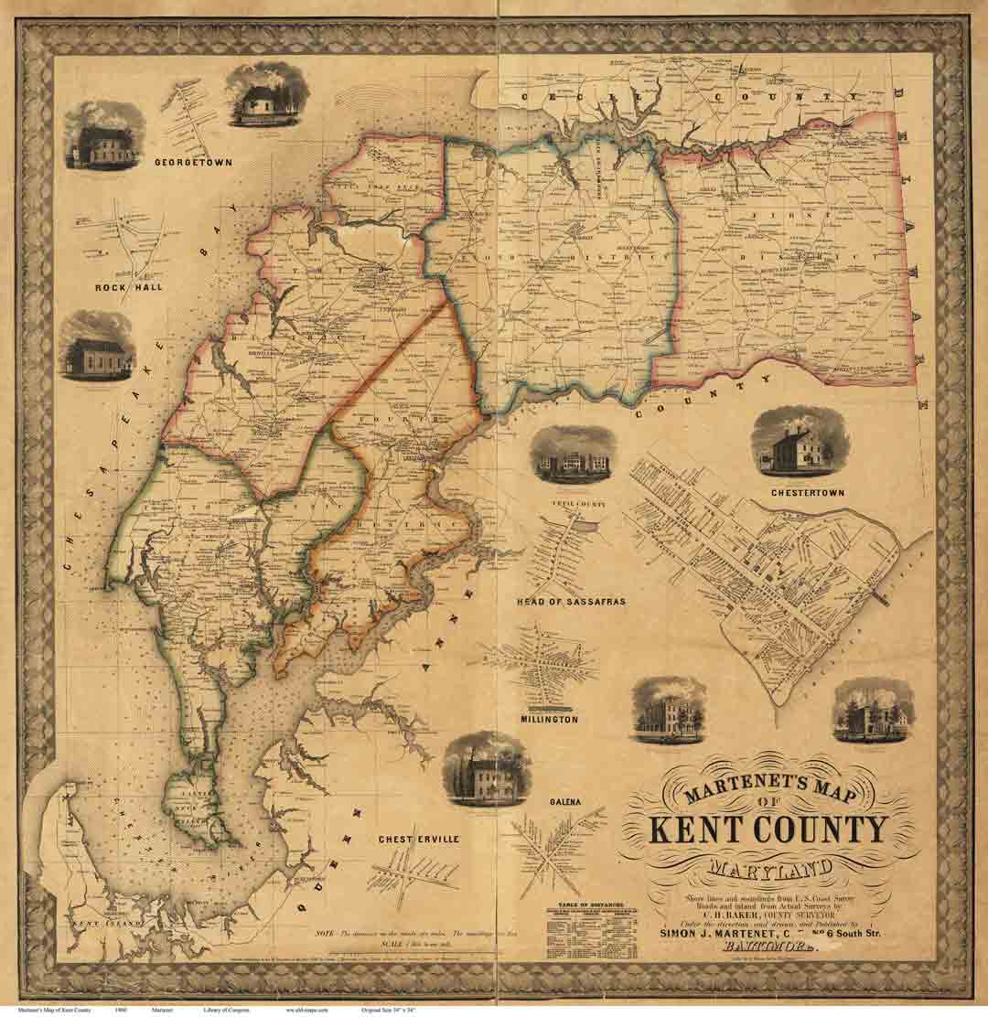 Old Maps of Kent Co MD 1860