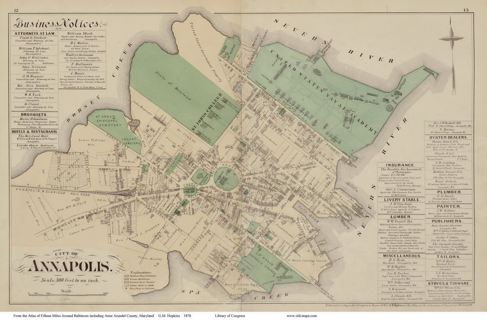 Old Maps Of Annapolis