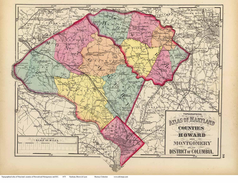 Maryland map montgomery county md u2013 bnhspinecom