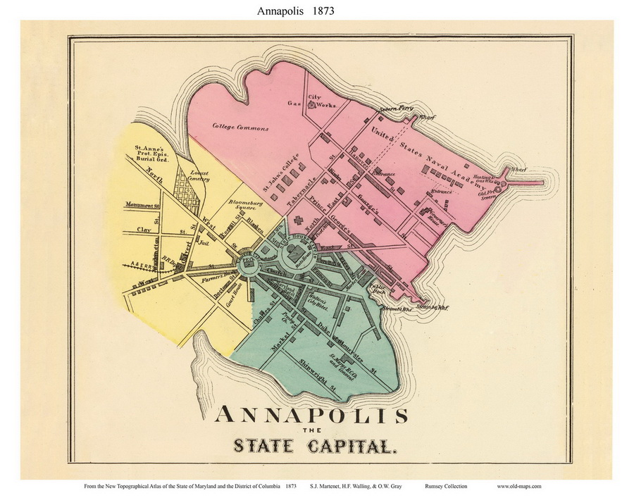 Old Maps Of Annapolis - Anápolis map