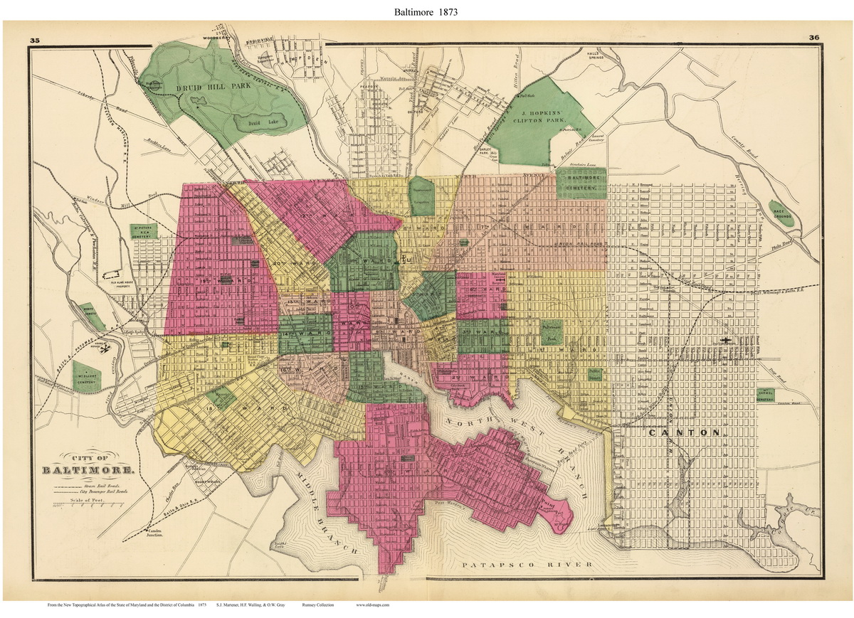 Atlas Of Maryland City Maps - Maryland city map