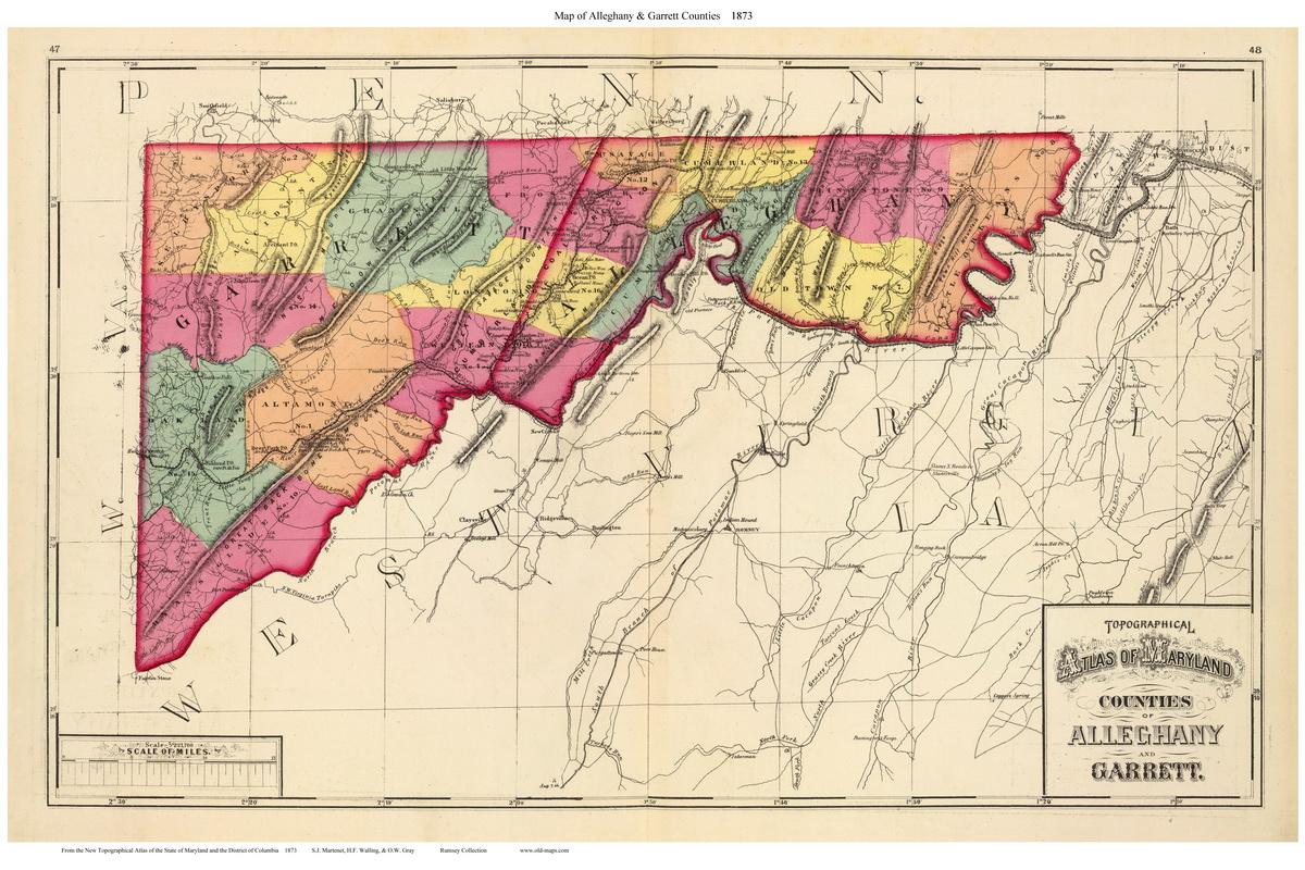 1873 Atlas Of Maryland County Maps