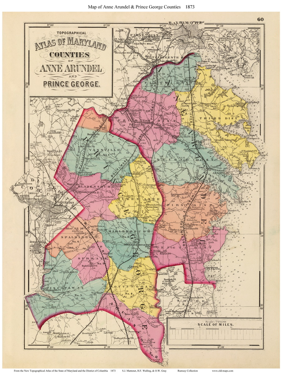 1873 Atlas of Maryland County Maps