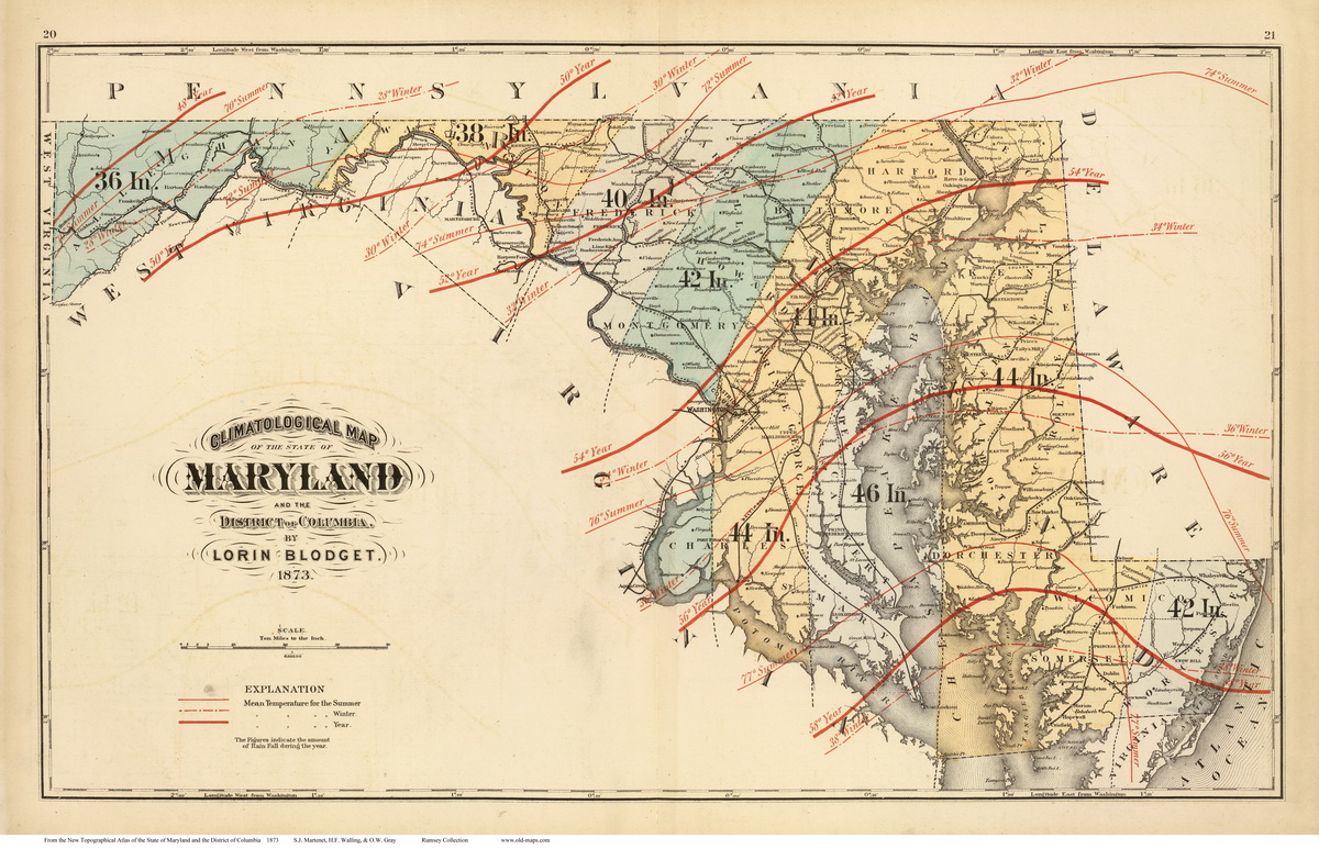 Atlas Of Maryland State Maps - State map of maryland